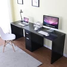 office desk workstation. Tribesigns Double Workstation Computer Desk With Filing Cabinet \u0026 Drawers, 78 Inch - Length Office Extra Large For Two Person, Modern Simple Style Fit