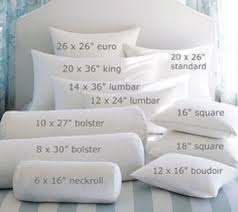 Pillow Insert Sizes