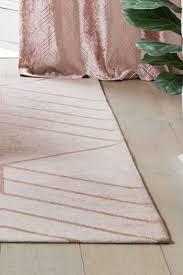 blush geo flat weave rug