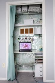 Curtain closet desk  SMART if you have any extra closet space!