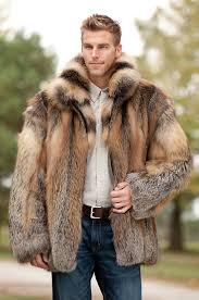 men s fox fur jacket