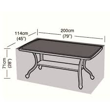 breathable garden furniture covers. Protector - 8 Seater Rectangular Table Cover 200cm Breathable Garden Furniture Covers
