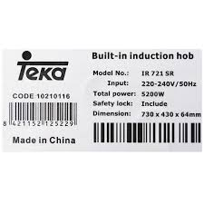 Bếp từ đôi TEKA IR 721 SR giá cạnh tranh