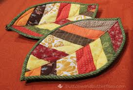 Buttons and Butterflies: Quilted Leaf Potholders {Tutorial} &  Adamdwight.com