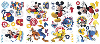 rmk2555scs mickey mouse clubhouse capers wall decals roomset 2016 walldecals 18x40