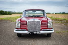 That's been the ethos since our foundation at the turn of the century. 1965 Mercedes Benz W111 220b Fintail