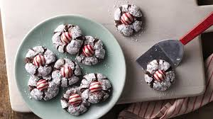 chocolate mint crinkles