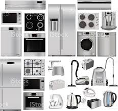 Kitchen Appliances On Credit Home Appliances Set Of Household Kitchen Technics Stock Vector Art