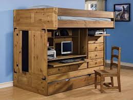rustic loft bed with desk and storage ideas how to build a loft