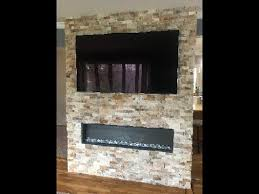 diy stone wall for recessed electric