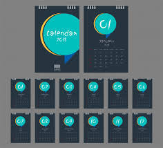 2018 calendar desk calendar modern design template with place for photo premium vector