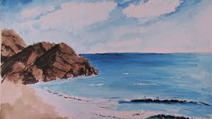 Easy Paintings How To Paint A Realistic Watercolor Beach Scene Youtube