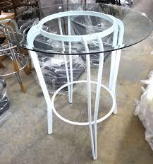 lisaglass pubtablemetalbase jpg 42 glass pub table