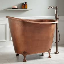 small bathrooms mini bathtub ideas for small bathrooms copper clawfoot soaking mini tub thumb 630xauto 57525