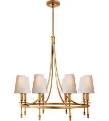 visual comfort tob5114g np thomas obrien michel 8 light 30 inch gild chandelier ceiling light