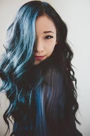Asian Girl Blue Black Hair Dye