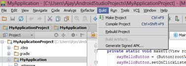 How do I export a project in the Android studio Stack Overflow