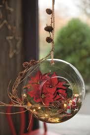 Miniaturlandschaften Mit Weihnachtssternen