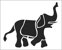 Elephant Pumpkin Carving Pattern Mesmerizing Formal Decorative Elephant Great For Fabrics Available From The