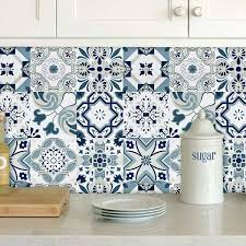 Buy Wenmer Blue Tile Contact Paper 17.7 ...