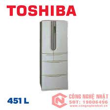 Tủ lạnh cao cấp 6 cánh chính hãng TOSHIBA GR-W45FB 451 lít nội địa Nhật