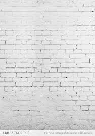 Painted White Brick Photography Backdrop Roll Up Floor