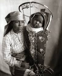 PLATEAU Native American Ida Palmer & Baby, 1921. Photo by Dr. K. Joseph  Dixon | Photographie