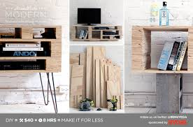 modern plywood furniture. homemade modern diy ep2 media console postcard plywood furniture