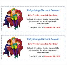babysitting gift certificate template free 11 baby sitting coupon templates psd ai indesign word free