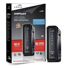 arris surfboard docsis 3 0 cable modem and wi fi router sbg6580 2 with wireless