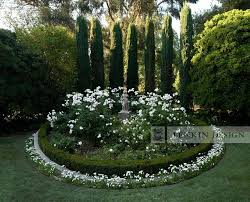 Small Picture Entry Rose Garden with Statue Traditional Landscape Los