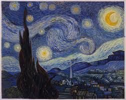 the starry night vincent van gogh hand painted oil painting reion famous artwork night landscape living room wall art home decor