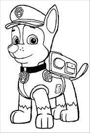 Paw Patrol Pictures To Color Best Printable Coloring Of Image