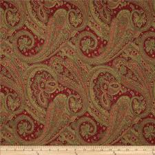 Discount Designer Upholstery Fabric Online Elite Glorietta Paisley Upholstery Jacquard Red From