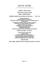 Resume Templates For Cashier Cashier Resume Templates Free Cashier ...
