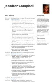 Retail Manager Resume Samples Visualcv Resume Samples Database