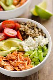 Light And Healthy Dinner Buffalo Chicken Quinoa Veggie Bowls Are A Light And
