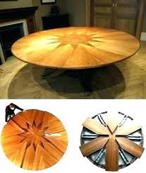expandable round dining table expandable round
