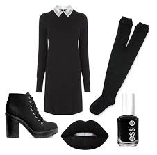 """DIY Wednesday Addams Costume"""" by addie-weaver on Polyvore featuring Oasis,  Aéropostale, … 