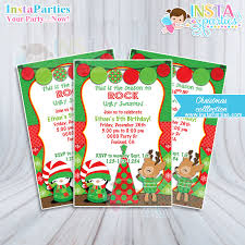Christmas Birthday Party Invitations Christmas Party Invitations Ugly Sweater Boy Girl Xmas Office
