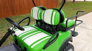 ezgo golf cart seat cover upholstery extreme striped lime green with white for ezgo yamaha