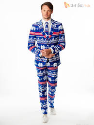 Mens Deluxe Christmas Opposuit Adult Xmas Festive Oppo Suit Fancy ...