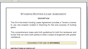 Hunting Lease Agreement Wyoming Hunting Lease Agreement YouTube 7