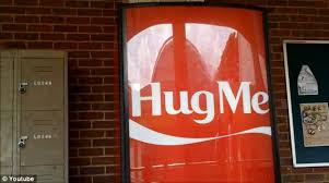 Vending Machine Name Ideas Adorable Give Us A Hug The CocaCola Vending Machine That Asks For Hugs Not