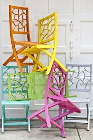bright painted furniture. brightly painted wicker chairs bright furniture i