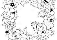 Easter Wreath Coloring Pages With Free Printable Christmas Page For