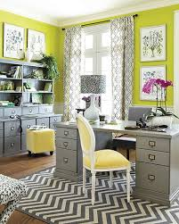 grey home office. Electric Lime And Gray Home Office With Damask Curtains Yellow Accents Grey F