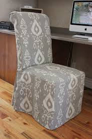 grey parsons chair covers naya furnitures parson chair skirted slipcover reviews wayfair had to do seams down the front corners because the fabric
