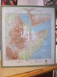 Cartaceo - ---------- - GRANDE CARTINA GEOGRAFICA AFRICA ORIENTALE ITALIANA