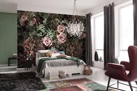 Pink And Black Wallpaper For Bedroom Black And Pink Velvet Roses Paper Wallpaper Homewallmurals